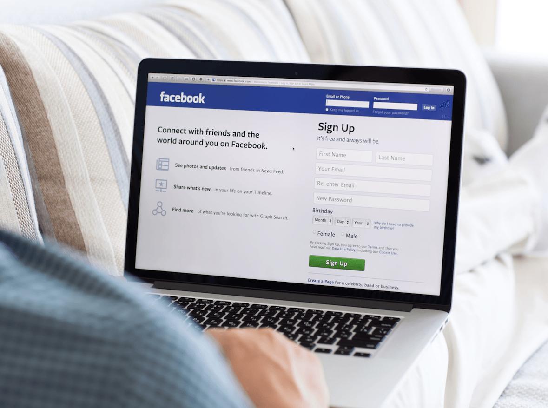facebook-on-a-laptop-computer