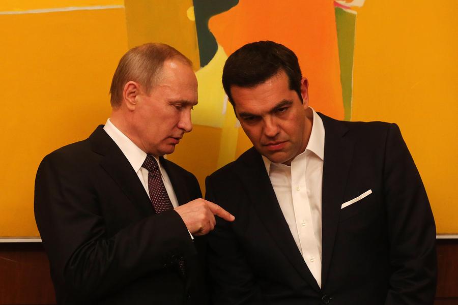 Russian President Vladimir Putin visits Greece
